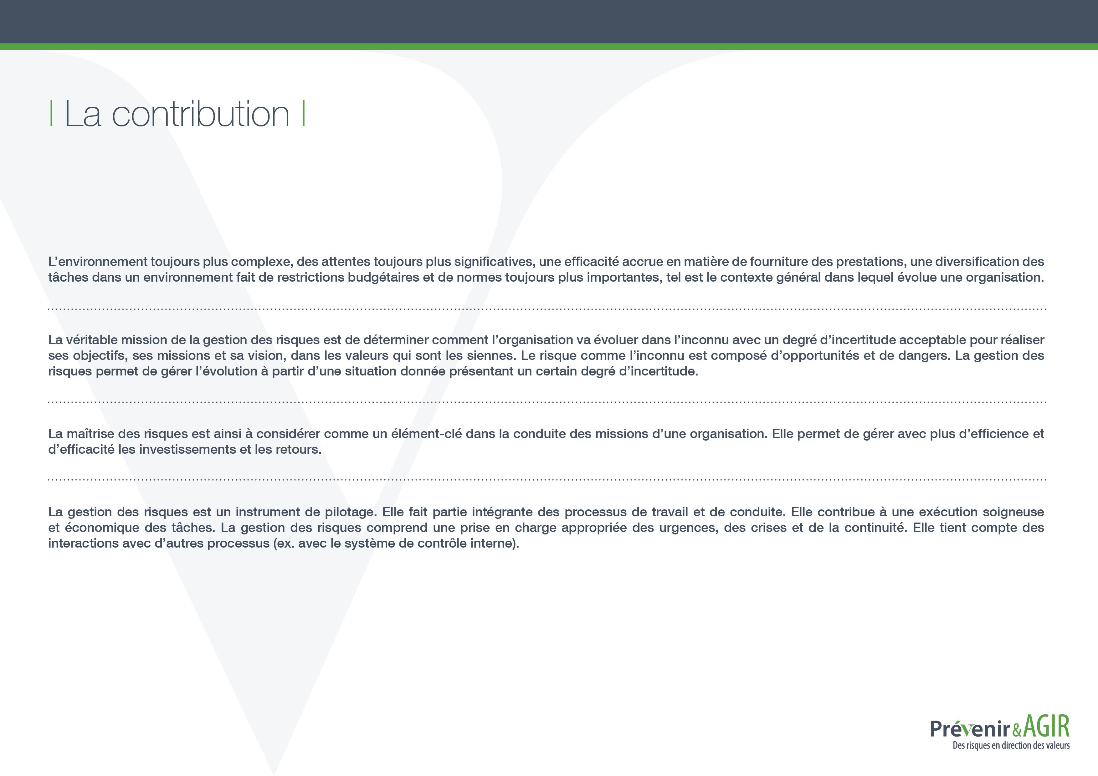 Prévenir SA - Logiciel de gestion des risques en ligne - Neuchâtel - Delémont - Zürich