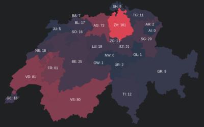 Évolution du COVID-19 en Suisse